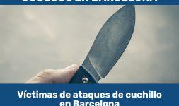 Víctimas de ataques de cuchillo en Barcelona