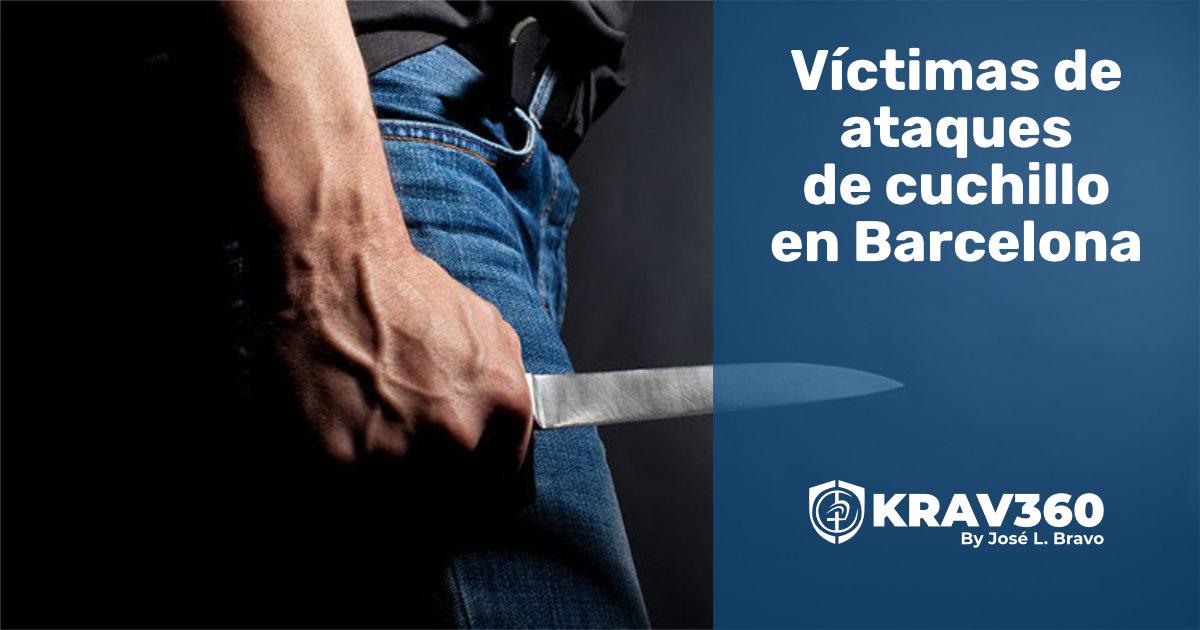 Víctimas de ataques con cuchillo en Barcelona