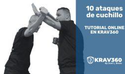 10 ataques de cuchillo. Tutorial online en Krav360