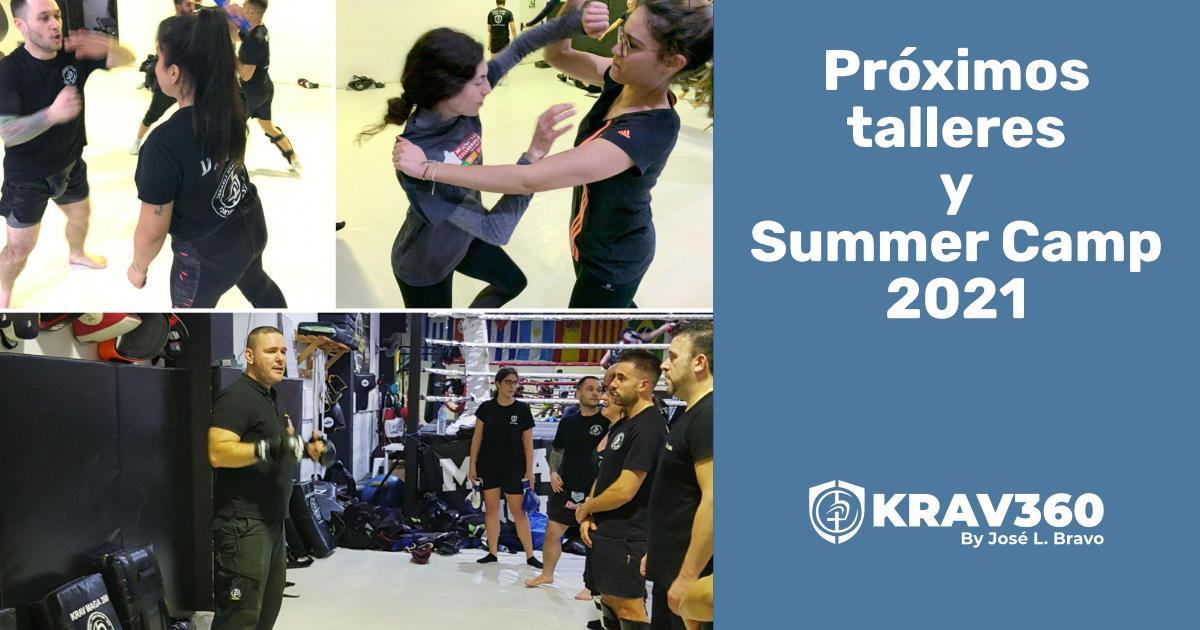 Próximos talleres de Krav Maga y Summer Camp 2021